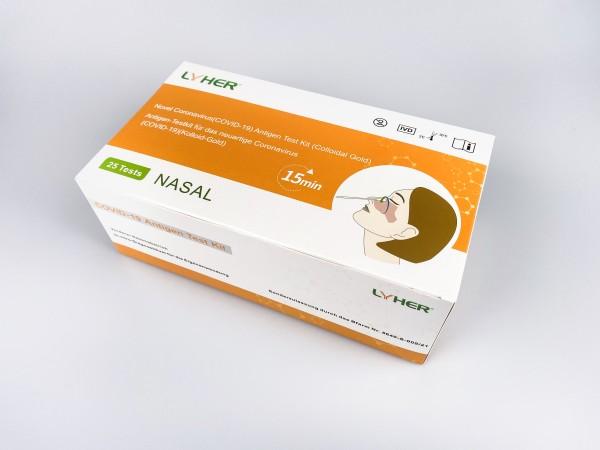 Lyher Covid-19 Antigen Schnelltest Nasal (Laienanwendung)