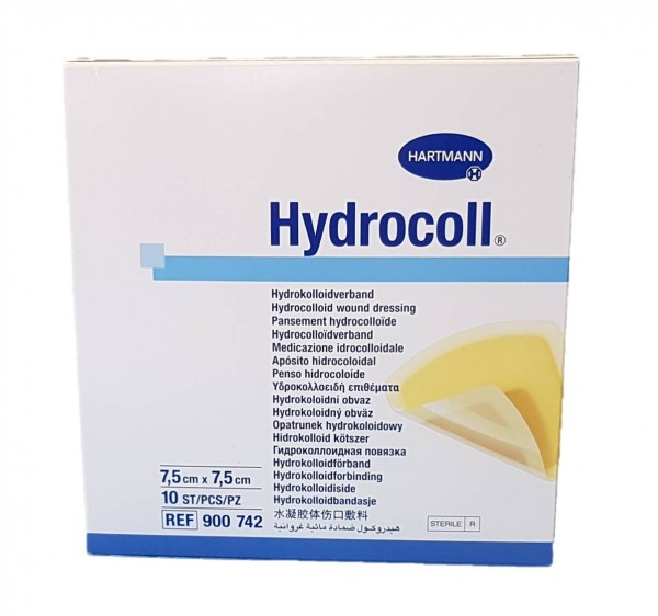 HYDROCOLL Wundverband 7,5x7,5 cm 10 St.