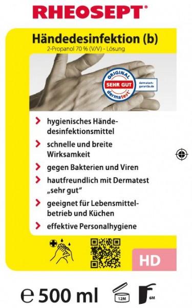 RHEOSEPT (b) Händedesinfektion 500 ml - Euroflasche
