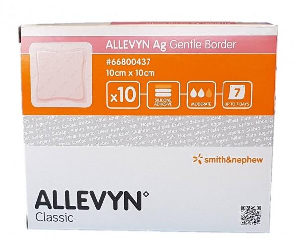 ALLEVYN Ag Gentle Border 10x10 cm Wundverband 10 St.