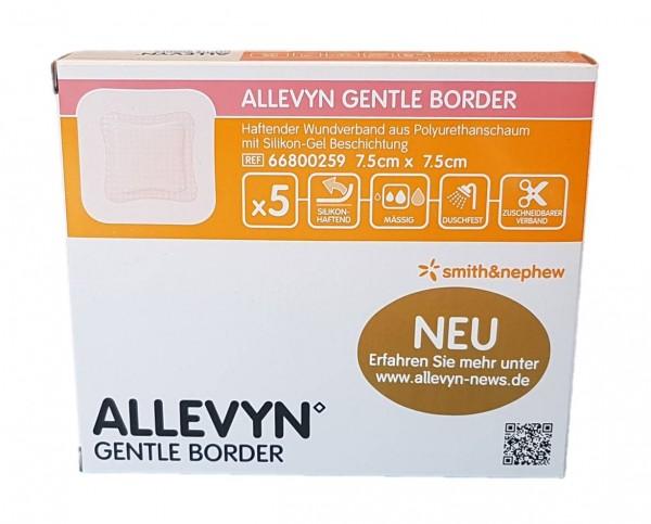 ALLEVYN Gentle Border 7,5x7,5 cm Schaumverb. 5 St.